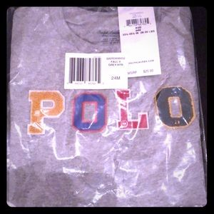 Polo gray Tee in plastic